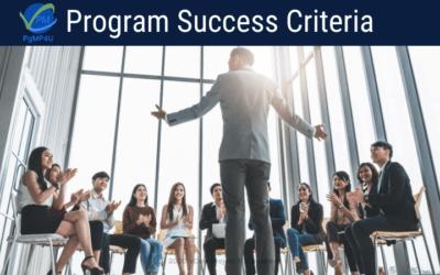 Program Success Criteria